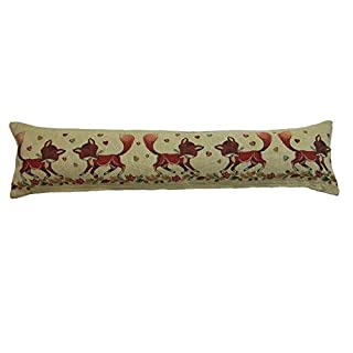 Classic Home Store Animal Design Draught Excluder Tapestry Style Fabric Door or Window Draft Guard Cushion (Foxes)