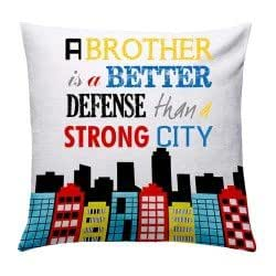 Rakhi Gifts, Rakhi Gifts for Brother, Rakshabandhan Gifts,Giftcart Strong Brother Cushion