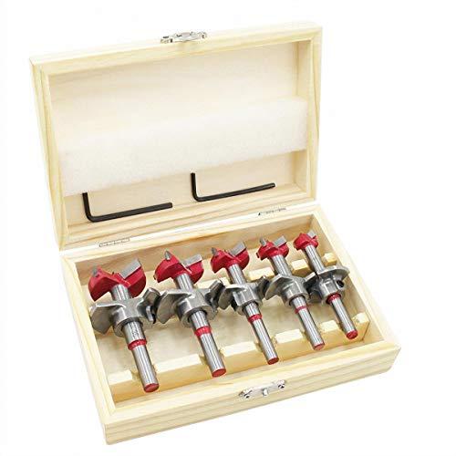 flintronic Dübelbohrer Holzbohrer Set, (15~35mm) Forstner Bohrer, Bit-Set, Holzbohrer Topfbohrer Kunstbohrer für Holzbearbeitung Mehrzweckbohrer