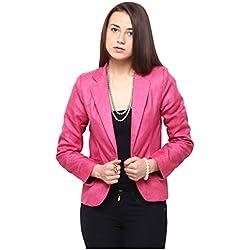 Yepme Women's Pink Poly Cotton Shirt - YPMBLZR5001_XL