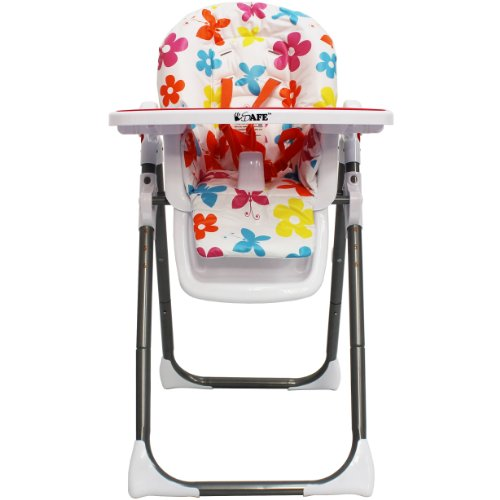 iSafe MAMA Highchair – Hawaii Recline Compact Padded Baby High Low Chair Complete With Double Tray & Storage Basket 41wHfAonaVL