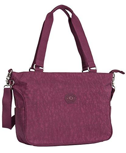 Big Handbag Shop, Borsa a mano donna Design 1 - Wine Red