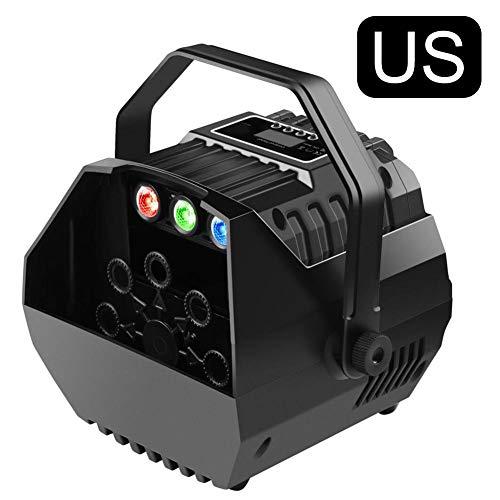 tulipde88 Mini automatische Blasen-Maschine, automatischer LED-Schlagmechanismus für im Freien oder Innen, drahtlose Fernbedienung Bühneneffektlichter Lampe -