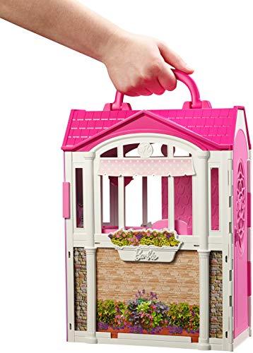 texture nette meilleure sélection de 2019 divers design Barbie Casa Vacanze Glam, Richiudibile, con Cucina, Camera da Letto, Bagno  e Tanti Accessori