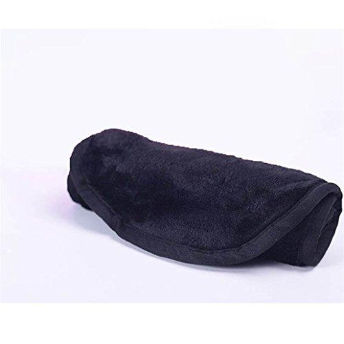 Chinget Makeup Entferner Handtuch mit nur Wasser, Weiches Microfaser Handtuch Gesichtsreinigungstuch Schwarz
