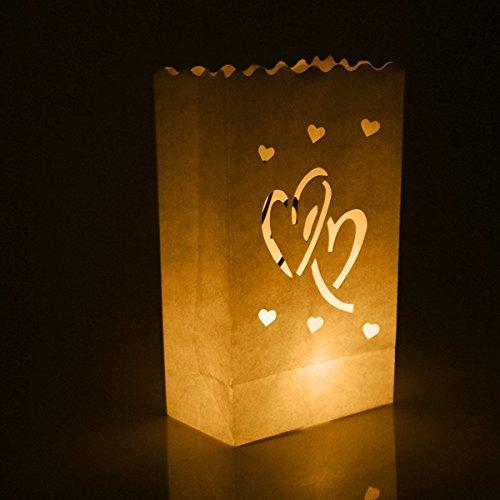 WINOMO 10pcs Kerze Papier Tasche Laterne Lampenschirm Hochzeit Party Dekoration