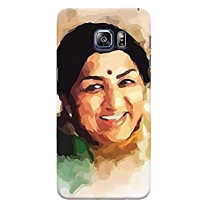 ColourCrust Samsung Galaxy S6 Edge Plus Mobile Phone Back Cover With Lata Mangeshkar - Durable Matte Finish Hard Plastic Slim Case