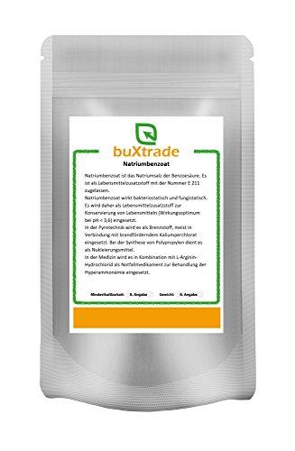 Natriumbenzoat wasserlöslich E211 Lebensmittelqualität Natriumsalz VERSCHIEDENE GRÖßEN