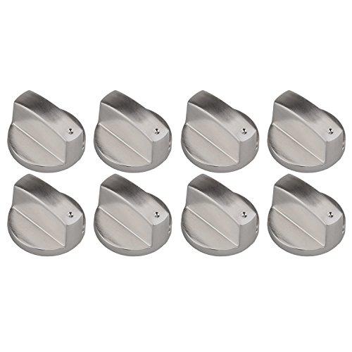 8 pezzi metallo 6mm universale argento stufa gas manopola, sostituzione manopole accessori per cucina stufa gas piano cottura forno