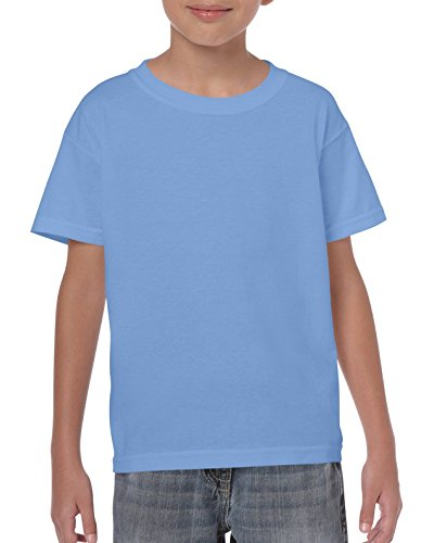 Gildan Maglietta in cotone pesante da bambino Medium,Carolina Blue