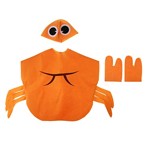 IPOTCH Kleinkind Obst Kostüm Tierkostüm Kinder-Kostüme für Fasching Karneval Halloween Party Faschingskostüm Karnevalskostüm - Krabbe