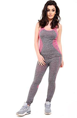 Get The Trend -  Tuta da ginnastica  - Donna PINK DMSET-3