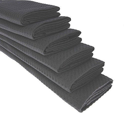 6x-100-cotton-waffle-pique-tea-towel-in-anthracite
