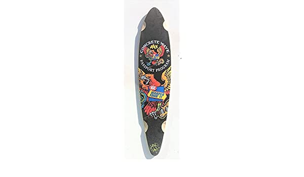 Longboard PINTAIL Freeride HIGH quality skateboard Canadian maple WARPTOUR D03