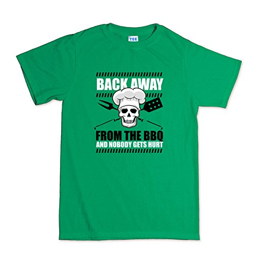 Back Away From BBQ Grill Funny T-Shirt Hellgrün