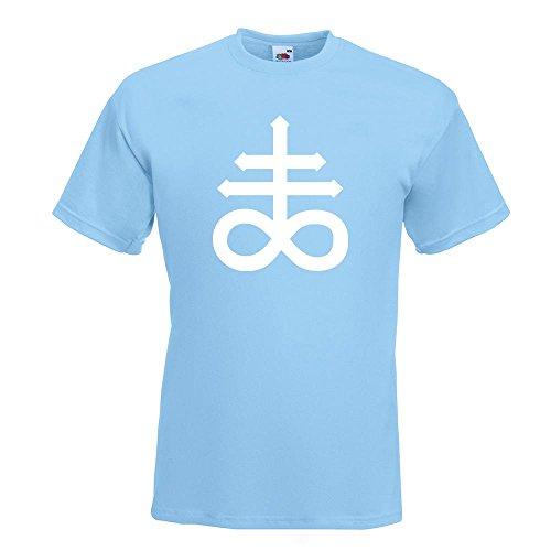 KIWISTAR - The Leviathan Cross T-Shirt in 15 verschiedenen Farben - Herren Funshirt bedruckt Design Sprüche Spruch Motive Oberteil Baumwolle Print Größe S M L XL XXL Himmelblau