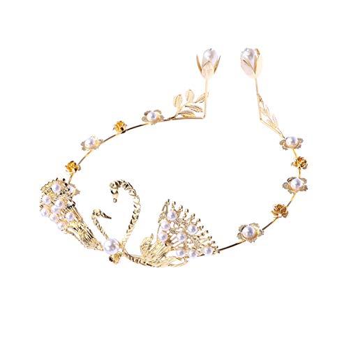 er Prinzessin Krone Hochzeitstorte Top Stirnband Partei liefert (Golden) ()