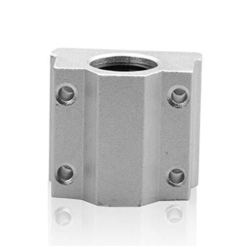 Linearlager-Lagerblock-offenes Linearlager-Dia-Einheits-Block-Bewegungs-Kugellager-Router zerteilt SCS8UU für 3D Drucker - Silber