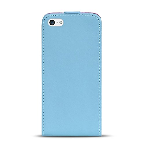 iPhone 4s PU Leder Flip Case Klapphülle Cover Hülle in Farbe: Grün Hellblau