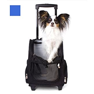 Valentina Valentti Deluxe Pet, Dog Travel Carrier Trolley Backpack with Wheels 16