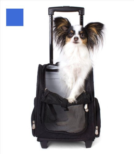 Valentina Valentti Deluxe Pet, Dog Travel Carrier Trolley Backpack with Wheels 1