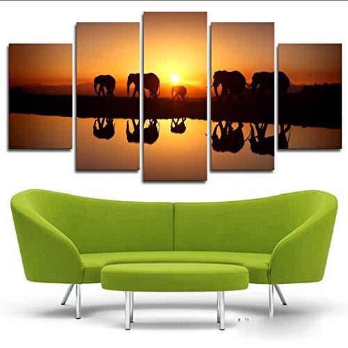 hhlwl Fotos de lienzo Arte de la pared de la sala de...