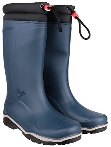 Dunlop Blizzard Winter-Gummistiefel Unisex mit Synthetisches Fellfutter Blau