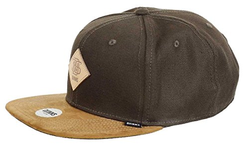 Djinns Herren Caps/Snapback Cap 6 Panel Light Canvas Olive Verstellbar