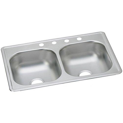 Elkay D233191 Küchenspüle, Edelstahl, 22 Gauge, 84 x 48 x 16 cm, 1 Loch, 84 x 19 x 17 cm -