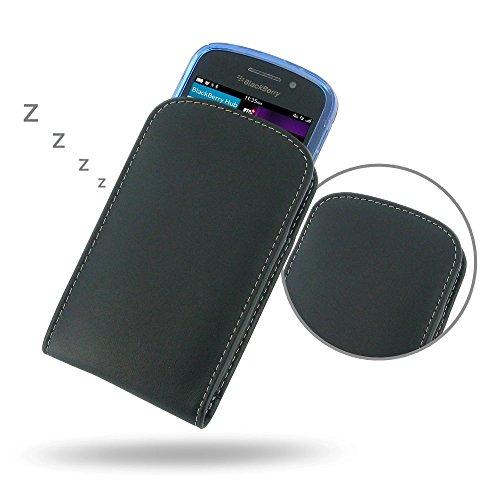 PDAir BlackBerry Q10 Echtes Leder Pouch (Fit Phone mit Einem dünnen Fall oder dünne Haut auf) Leder, Handarbeit Vertikales (Blackberry Otterbox Q10)