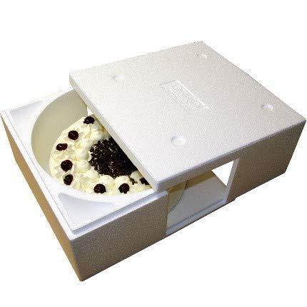 1 Isolierbehälter ✔ Styropor weiß ✔ zum Transport von Kuchen und Torten