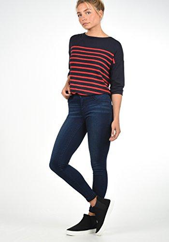 ONLY Feli Damen Jeans Denim Hose Röhrenjeans Aus Stretch-Material Skinny Fit, Farbe:Dark Blue Denim, Größe:XS/ L34 -