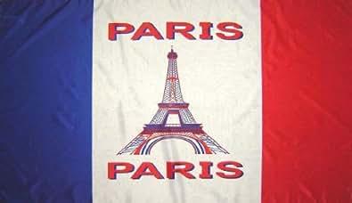 *** PROMOTION *** Drapeau supporter - Paris - 150 x 90 cm
