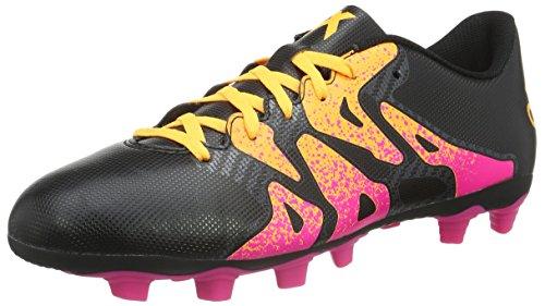 adidas Herren X 15.4 FxG Fußballschuhe Schwarz (Core Black/Shock Pink/Solar Gold) 47 1/3 EU