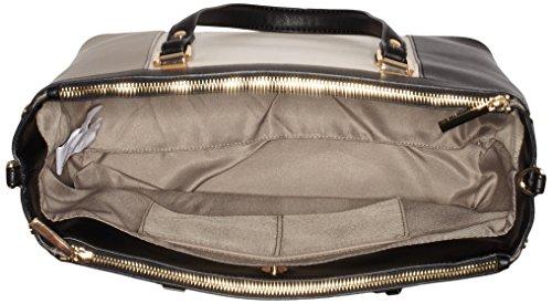 Liu Jo Damen Shopping Bag Schultertaschen, 34x26x15 cm Mehrfarbig (Tortora/tr champ/bla A3163)