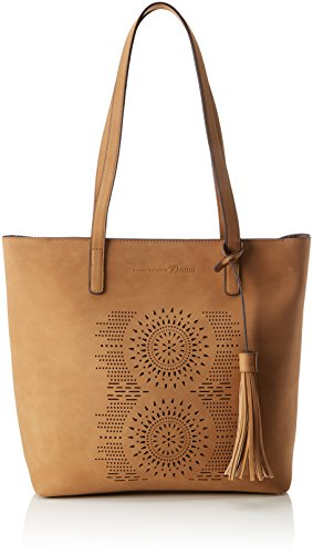 TOM TAILOR Denim Damen Nina Tote, Braun (Camel), 11.5x30x38 cm