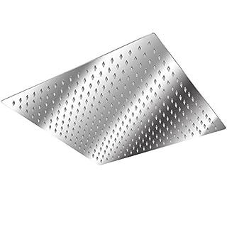 HENGMEI Duschkopf Regendusche Anti-Kalk Duschkopf Regen Edelstahl Duschkopf Kopfbrause Raindance Duschbrause Quadratisch Schwenkbar (50×50cm)