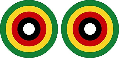 Preisvergleich Produktbild 2x Sticker Selbstklebend Luftfahrt Militärische Air Force Flugzeug Faltoptik Simbabwe