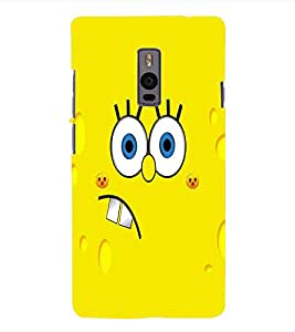 Fuson 3D Printed Cartoon Designer Back Case Cover for OnePlus 2 - D1084