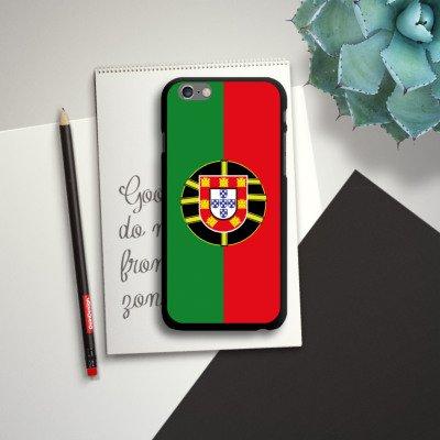 Apple iPhone 5s Housse Étui Protection Coque Portugal Drapeau Ballon de football CasDur noir