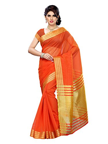 Mimosa Art Silk Saree (Prs2-Rd-Orng_Red*Orange)