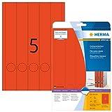 Herma 5132 Farbige Ordnerrücken rot blickdicht, schmal/lang (38 x 297 mm) 100 Ordner Etiketten, 20 Blatt A4 Papier matt, bedruckbar, selbstklebend