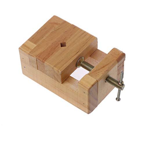 LLAni Mini-Schraubstock aus Holz, flacher Schraubstock zum Anklemmen, für Holzarbeiten, Schnitzen