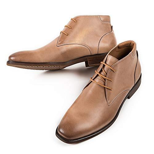 S.Y.M Stivali da Uomo Vintage Stile Britannico Stivali da Uomo in Vera Pelle Martin Stivali Invernali da Uomo di Alta qualità, Stivali da Martin for Caviglia da Uomo (Color : Beige, Size : 41-EU)