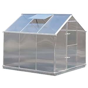 Aluminium Gewächshaus Typ F3 - 5,18 m² - 6 mm starke Hohlkammerscheiben