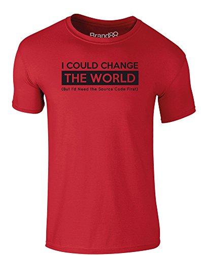 Brand88 - Source Code, Erwachsene Gedrucktes T-Shirt Rote/Schwarz