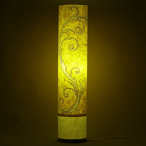 pagadi-ganesh-handmade-paper-yellow-shade-white-cylinderical-floor-lamp-living-dinig-area-night-ligh
