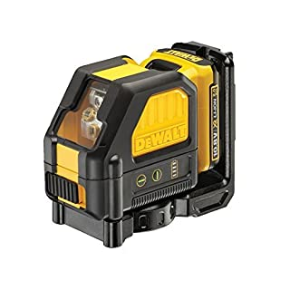 Dewalt DCE088D1G 0.8V Self Leveling Cross Line Green Laser (1 x 2.0Ah Battery), Black/Yellow, 1 x 10.8 Volt 2.0Ah Li-Ion