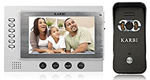 "Karbi 7"" Video Door Phone With Recording Facility 32gb memory slot"