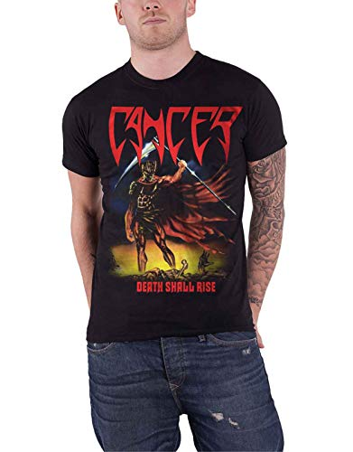 Cancer T Shirt Death Shall Rise Band Logo Death Metal Nuovo Ufficiale Uomo Size M